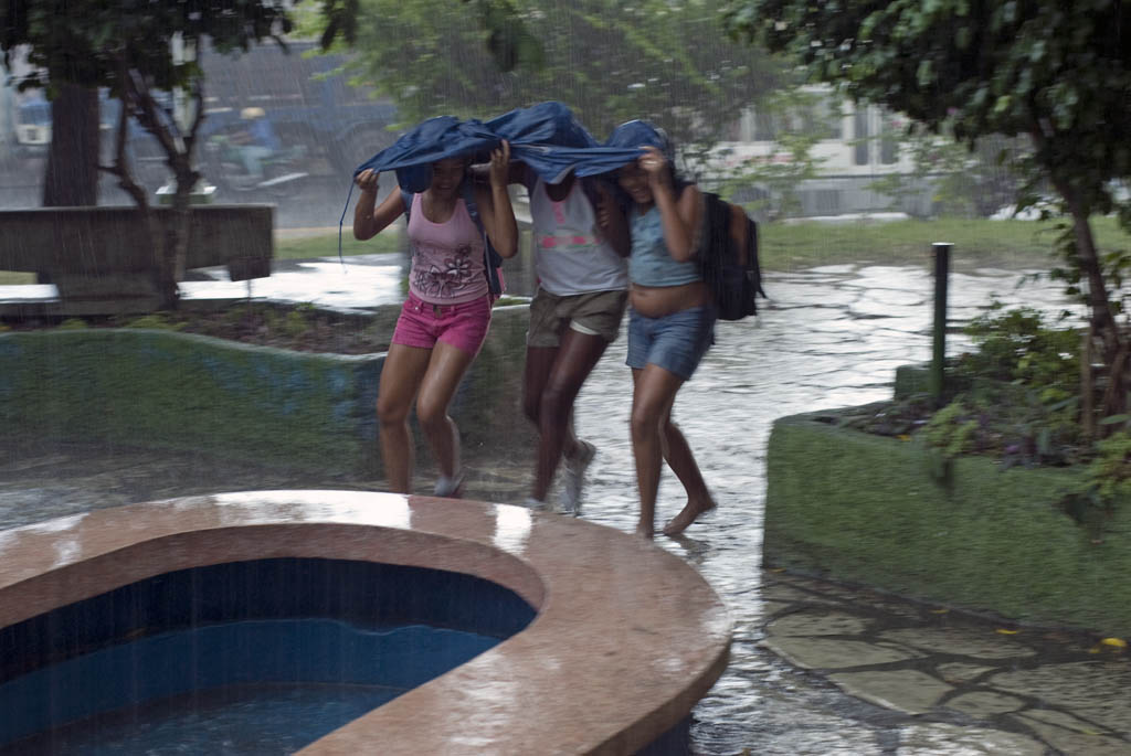 Santiago rain